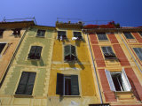 Colourful Trompe L'Oeuil Facades by the Harbour  Portofino  Portofino Peninsula  Liguria  Italy