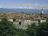 City Centre and the Alps  Torino (Turin)  Piemonte (Piedmont)  Italy  Europe