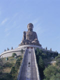 Statue of the Buddha  the Largest in Asia  Po Lin Monastery  Lantau Island  Hong Kong  China  Asia