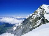 Monch (13449 Ft) Mountain  Bernese Oberland  Swiss Alps  Switzerland  Europe