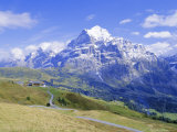 View from Grindelwald-Frist to Wetterhorn  Bernese Oberland  Swiss Alps  Switzerland  Europe