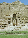 Small Buddha Statue in Cliff (Since Destroyed by the Taliban)  Bamiyan  Afghanistan