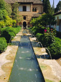 Generalife Gardens  the Alhambra  Granada  Andalucia  Spain  Europe
