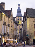 Evening in the Place De La Liberte  Sarlat-La-Caneda  Dordogne  Aquitaine  France  Europe