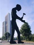 Hammering Man Sculpture  Frankfurt  Germany  Europe