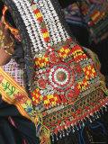 Close-up of a Woman's Headdress  Kalash Ku'Pa  Joshi (Spring Festival)  Bumburet Valley  Pakistan