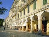 Liston Arcades  Corfu Town  Corfu  Ionian Islands  Greece  Europe