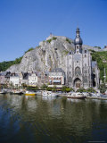 River Meuse in the Old Town of Dinant  Ardennes  Belgium