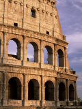 The Colosseum at Sunset  Rome  Lazio  Italy  Europe
