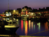 The Old Harbour  Illuminated at Dusk  Weymouth  Dorset  England  UK  Europe