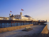 Palace Pier in Evening Light  Brighton  Sussex  England