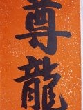 Close-up of Chinese Calligraphy at a Temple  Stanley  Hong Kong  China  Asia
