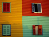 Colourful Buildings in La Boca District  Buenos Aires  Argentina