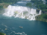 Aerial View of the American Falls  Niagara Falls  New York State  USA