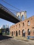 Derelict Warehouses Under Brooklyn Bridge  Brooklyn  New York City  New York  USA