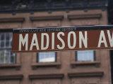 Madison Avenue Street Sign  Upper East Side  Manhattan  New York City  New York  USA