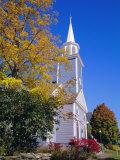 Church  Wiscasset Village  Maine  New England  USA