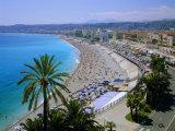 Promenade Des Anglais  Nice  Cote d'Azur  Alpes-Maritimes  Provence  France  Europe