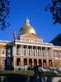 The State House  Boston  Massachusetts  New England  USA