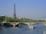 The River Seine and Eiffel Tower  Paris  France  Europe