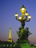 The Eiffel Tower from the Pont Alexandre III (Bridge)  Paris  France  Europe