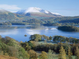 Derwent Water  with Blencathra Behind  Lake District  Cumbria  England  UK