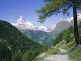 The Matterhorn Mountain  Swiss Alps  Switzerland  Europe