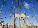 Brooklyn Bridge  New York City  New York  United States of America  North America