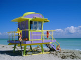 Lifeguard Station  South Beach  Miami Beach  Florida  USA