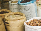 Sacks of Nuts and Lentils in the Spice Souk  Deira  Dubai  United Arab Emirates  Middle East