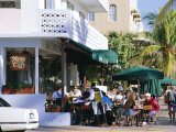 News Cafe on Ocean Drive  South Beach  Miami Beach  Florida  USA
