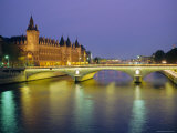 Palais De Justice and the River Seine in the Evening  Paris  France  Europe