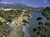 Salon Beach from Balcon De Europe  Nerja  Andalucia (Andalusia)  Spain  Europe