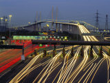 Tollgates on Queen Elizabeth Bridge at Night  M25  Dartford  Kent  England  UK  Europe