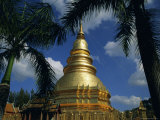 Buddhist Temple of Wat Haripoonchai  Lamphun  Thailand  Asia