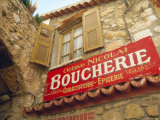 Butcher's Shop Sign  St Agnes  Cote d'Azur  Provence  France  Europe