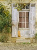 Rustic Door and Bread  Aquitaine  France  Europe
