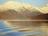 Glassy Reflections of Sky and Mountains  Tysfjord  Arctic Norway  Scandinavia  Europe