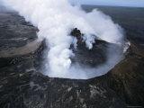 View of Active Volcano from Helicopter  Big Island  Hawaii  Hawaiian Islands  USA