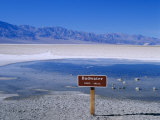Salt Flats Badwater Death Valley  California  Nevada  USA
