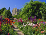 Herbaceous Borders in the Gardens  Crathes Castle  Grampian  Scotland  UK  Europe