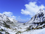 Nant Ffrancon Pass  Ogwen Valley  Snowdonia  Gwynned  Wales  UK  Europe