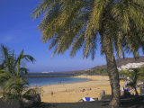 The Beach at Playa Blanca  Lanzarote  Canary Islands  Atlantic  Spain  Europe