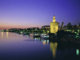 Torre Del Oro and Rio Guadelquivir in the Evening  Seville (Sevilla)  Andalucia (Andalusia)  Spain