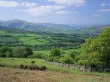 Fields in the Valleys Near Brecon  Powys  Wales  UK  Europe