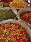 Chillies for Sale  Street Market  Bangkok  Thailand