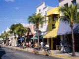 Street Scene on Duval Street  Key West  Florida  USA