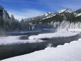 River in Winter  Refuge Point  West Yellowstone  Montana  USA