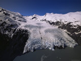Overview of Portage Glacier from Helicopter  Portage  Alaska  USA