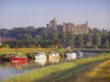 Arundel Castle and River  Arundel  Sussex  England